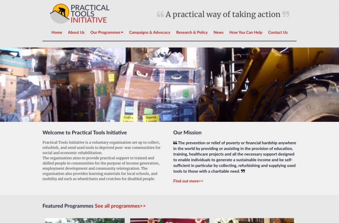 Practical Tools Initiative Desktop