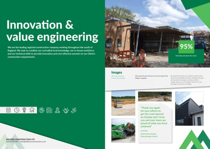 Mildren Construction Graphic Design