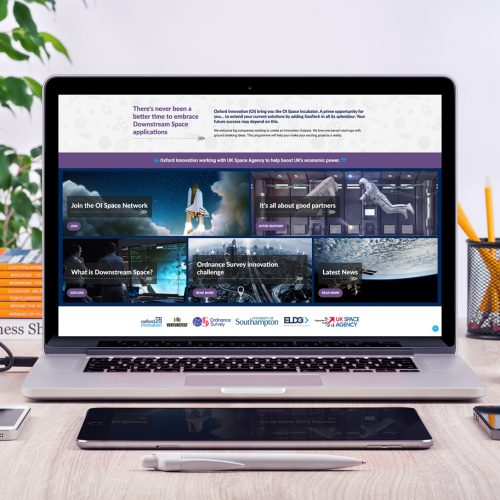 Oxford Innovation Space Web Design, Hampshire