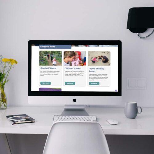 Loveders Nursery Web Design Hampshire
