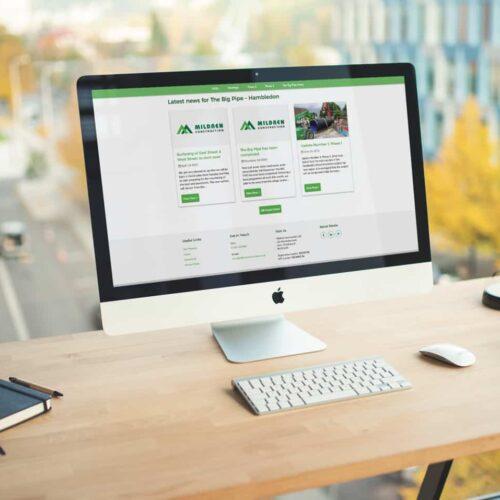 Mildren Construction Community Web Design