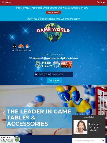 Game World Planet Tablet
