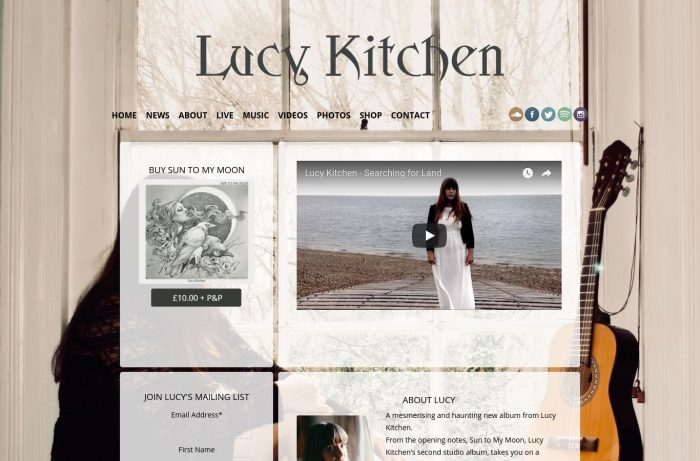 Lucy Kitchen Music Desktop