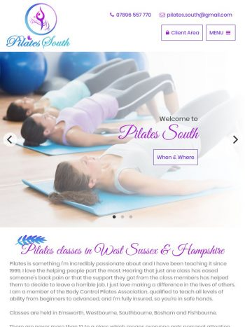 Pilates South Tablet
