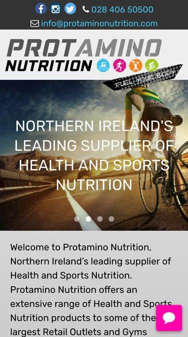 Protamino Nutrition Mobile