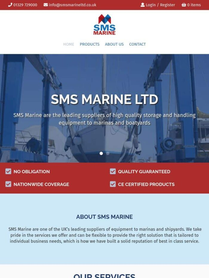 SMS Marine Ltd Tablet