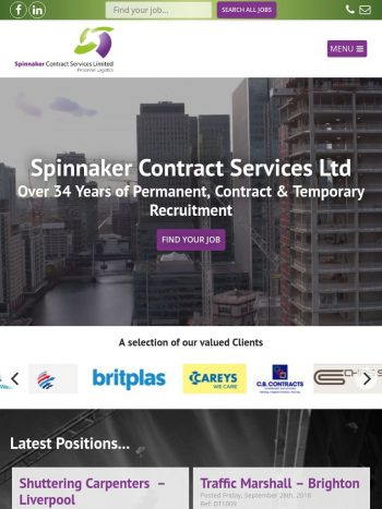 Spinnaker Contract Services Tablet