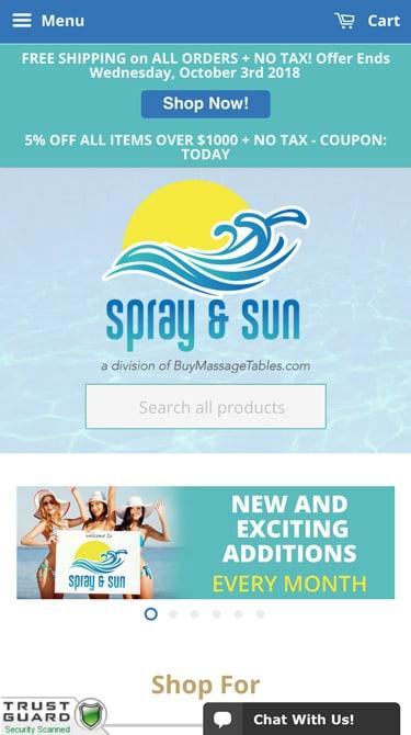 Spray and Sun Mobile