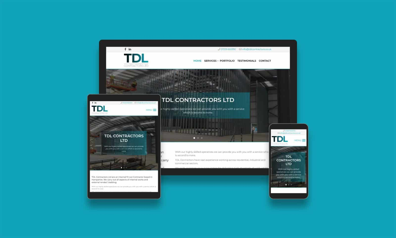 TDL Contractors Ltd - Eldo Web Design Ltd in Hampshire