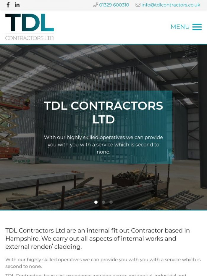 TDL Contractors Ltd Tablet