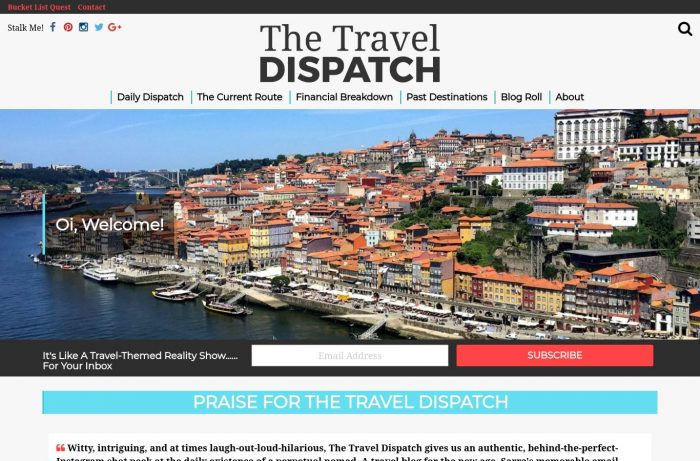 The Travel Dispatch Desktop