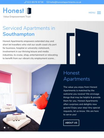 Honest Apartments tablet