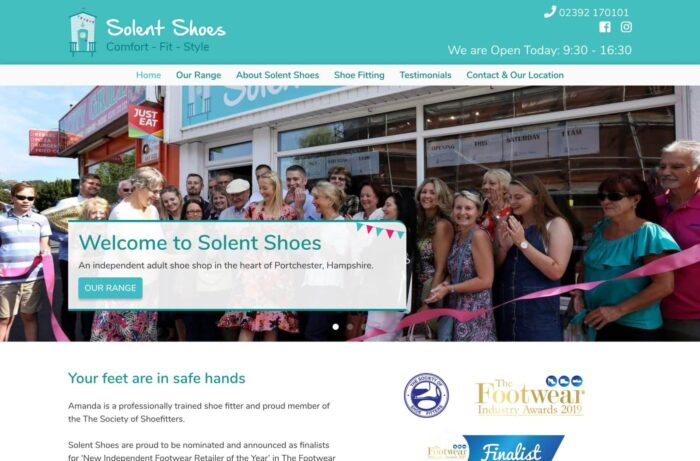Solent Shoes Laptop