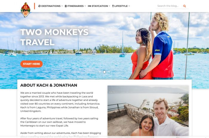 Two Monkeys Travel Desktop