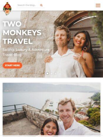 Two Monkeys Travel Tablet