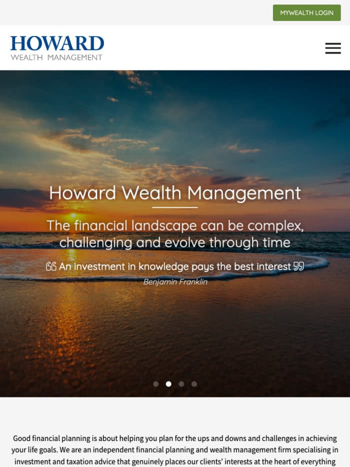 Howard Wealth Management Tablet