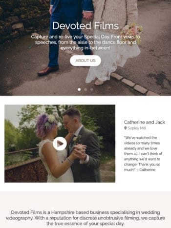 Devoted Films Wedding Tablet