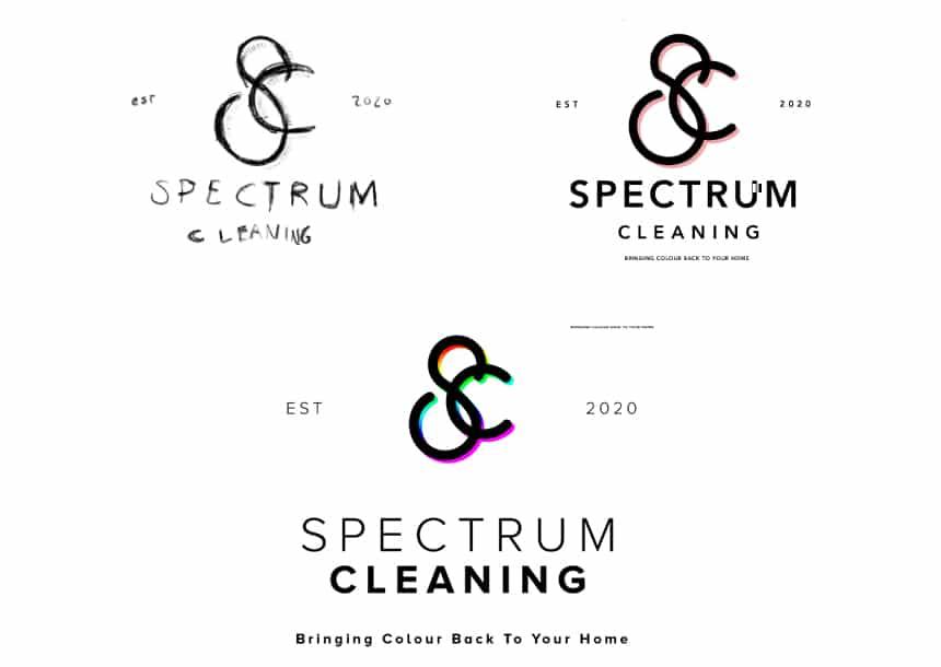 Spectrum Cleaning Logo Development