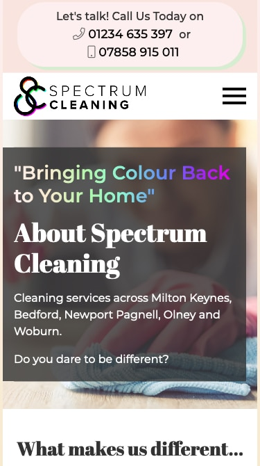 Spectrum Cleaning Mobile