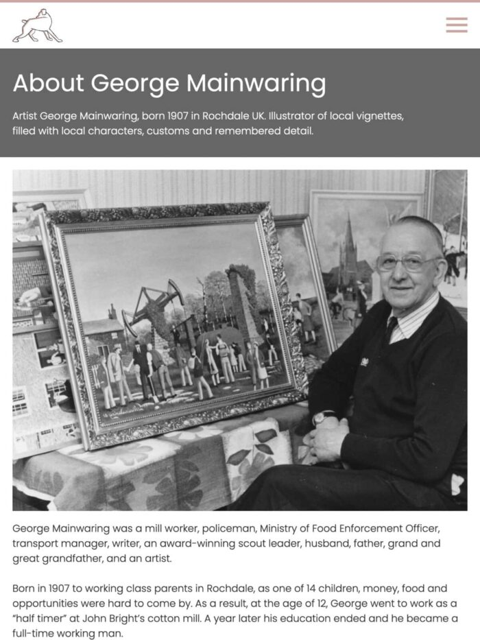 George Mainwaring Tablet