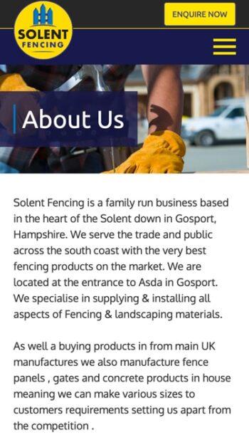 Solent Fencing Mobile