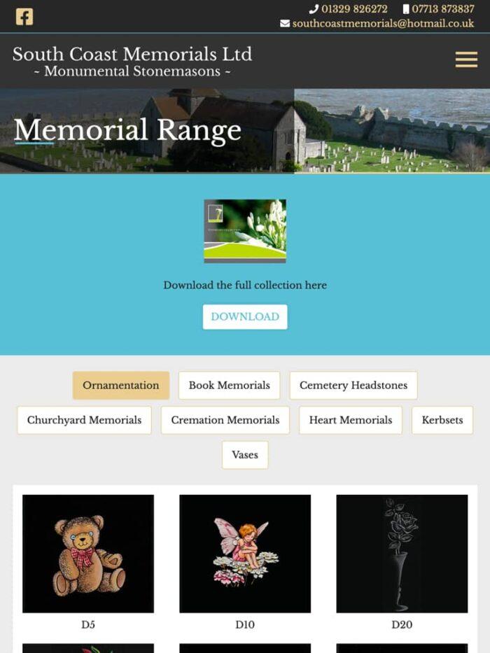 South Coast Memorials Tablet
