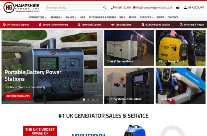 Hampshire Generators Desktop
