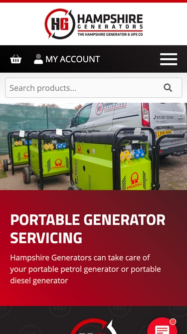Hampshire Generators Mobile