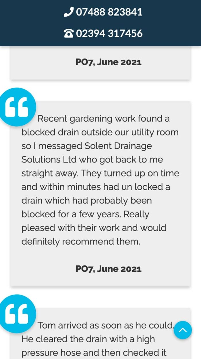 Solent Drainage Solutions Mobile