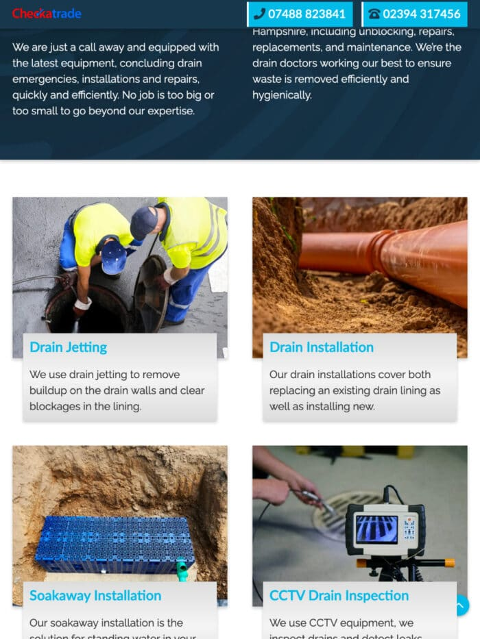 Solent Drainage Solutions Tablet